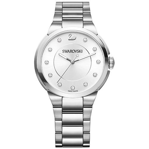 500 Swarovski-City-Watch-Metal-bracelet-White-Silver-tone-5181632-W600