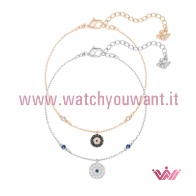 e459d1dc33f Bracciale - Swarovski Set Crystal Wishes Evil Eye Azzurro 5272256 - Watch  You Want