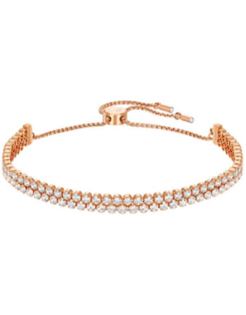Swarovski-Subtle-Double-Bracelet-White-Rose-Gold-Plating-5224182
