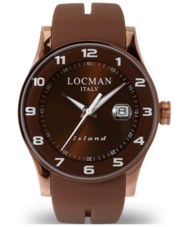 locman island chocolate 0600BNNW-BNW2SIN cassa pvd rose gold quadrante e cinturino marrone a