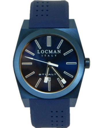 locman stealth 0201BLBLNNKSIB cassa 43 mm pvd blu cinturino e quadrante blu