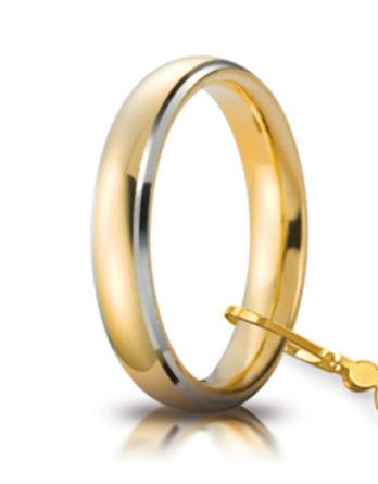 unoaerre comoda oro giallo 4 mm bordi rodiati