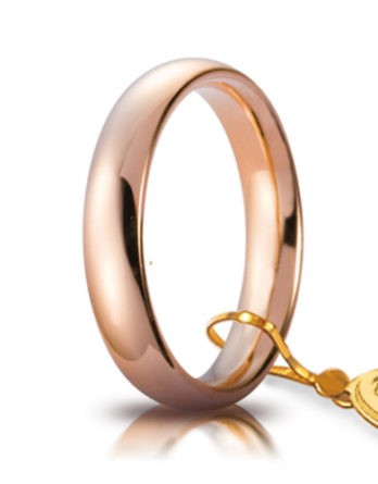 unoaerre comoda oro rosa 4 mm
