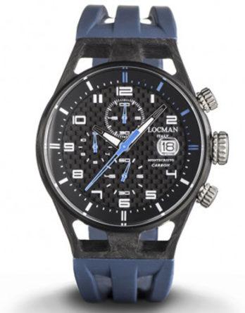 orologio Locman montecristo 0545C09S-CBCBWHSB cassa carbonio cinturino blu silicone