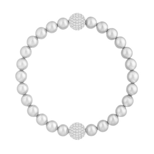 b4ed81f8a21a96 Bracciale – Swarovski Remix Light Gray Crystal Pearl 5364103