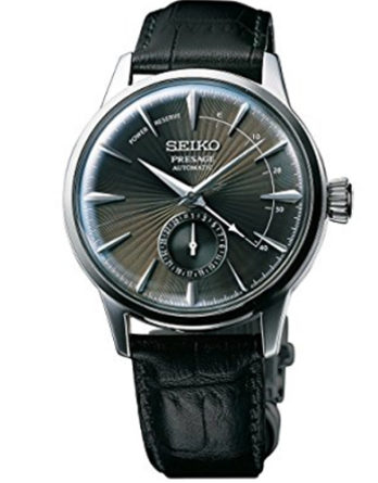seiko SSA345J11 presage grey leather