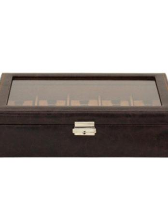 500 scatola porta orologi marrone 10 posti a