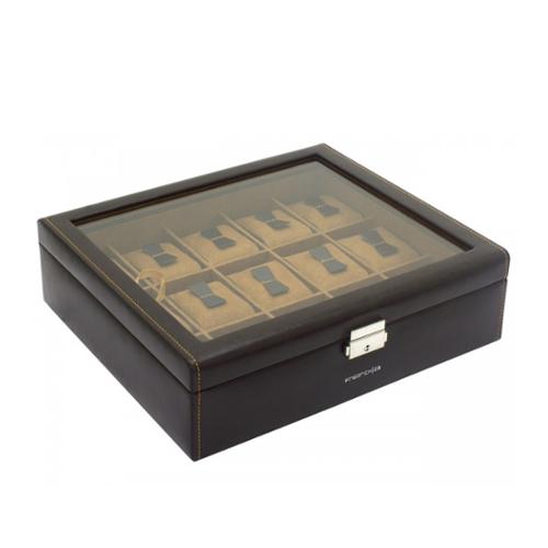 500 scatola porta orologi marrone 15 posti a