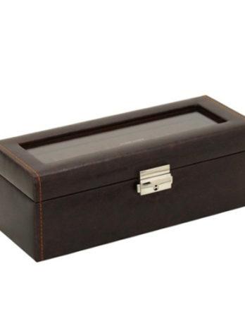 500 scatola porta orologi marrone 4 posti