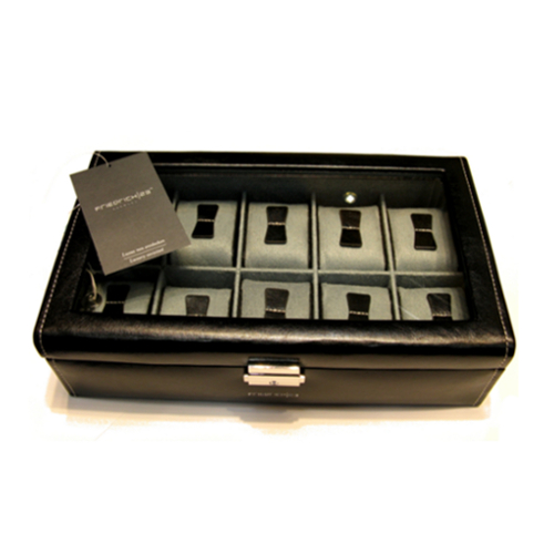 500 scatola porta orologi nero 10 posti