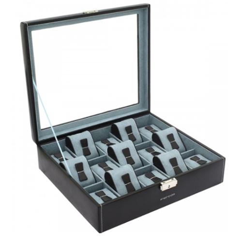 500 scatola porta orologi nero 15 posti