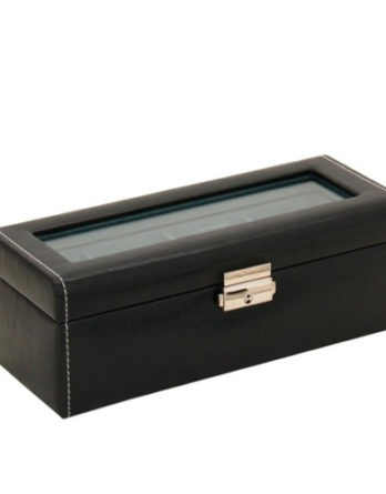 500 scatola porta orologi nero 4 posti