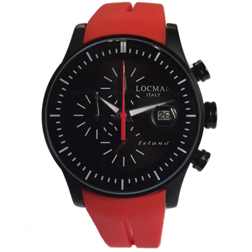 500 locman Island crono nero cinturino rosso 0620BKKW-BKWSIR