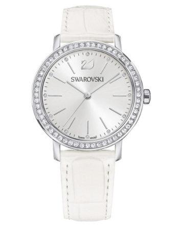 Orologio Swarovski bianco con 56 cristalli sulla ghiera