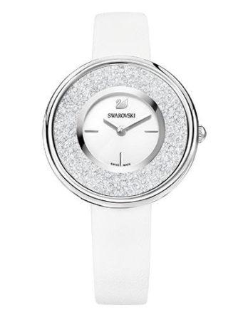 Orologio bianco con 850 cristalli sul quadrante
