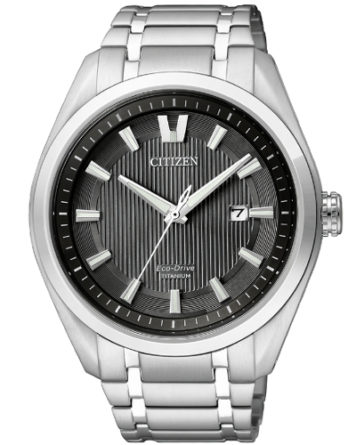 citizen AW1240-57E supertitanio solo tempo quadrante nero