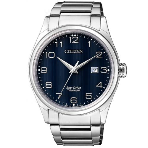 citizen BM7360-82M supertitanio quadrante blu numeri arabi