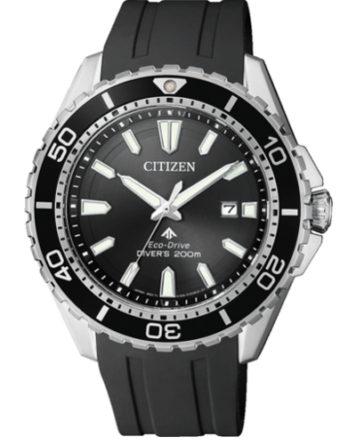 citizen BN0190-15E eco-drive uomo 200 mt sub cinturino in silicone nero