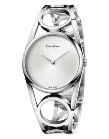 500 Calvin Klein CK K5U2M146 Round orologio donna quadrante silver bracciale in acciaio
