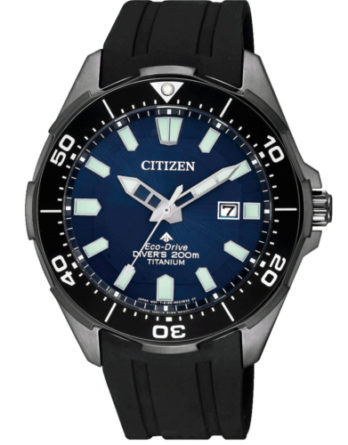 citizen BN0205-10L supertitanio diver's 200 mt blu con cinturino nero
