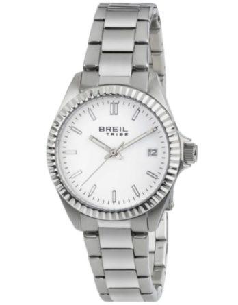 breil EW0218 Classic Elegance orologio solo tempo donna bracciale acciaio quadrante bianco