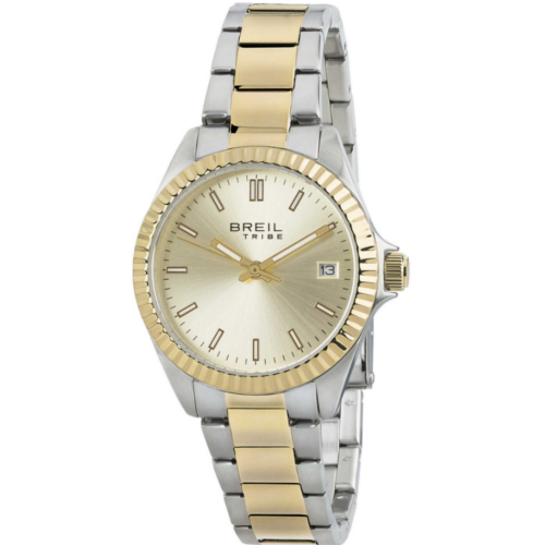 breil EW0219 Classic Elegance orologio solo tempo donna bracciale acciaio bicolore quadrante dorato