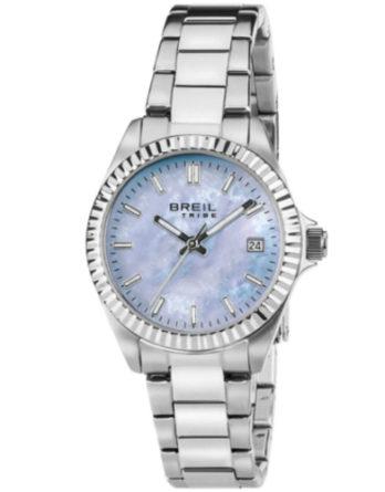 breil EW0238 Classic Elegance orologio solo tempo donna bracciale acciaio quadrante celeste