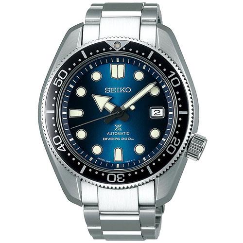 seiko SPB083J1 1968 quadrante blu edizione speciale con secondo cinturino in silicone blu a