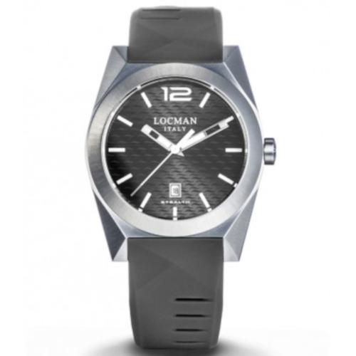 locman new stealth 0810a07s-00gywhsa quadrante grigio cinturino silicone grigio