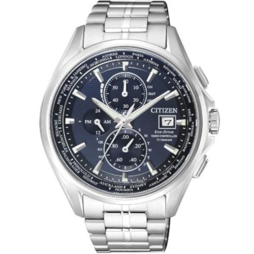 citizen AT8130-56L h800 elegance titanio quadrante blu radiocontrollato