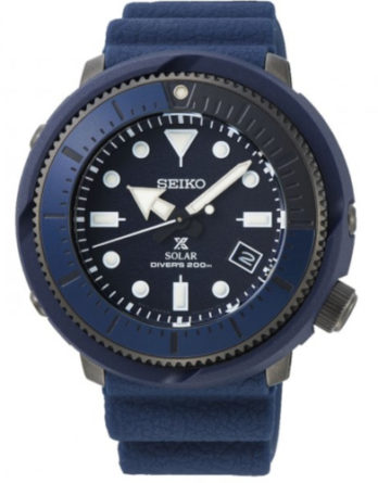 seiko SNE533P1 Tuna Solar Street Series cinturino e quadrante blu
