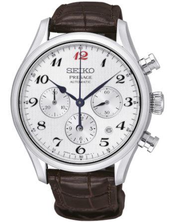 seiko srq025j1 cronografo automatico quadrante bianco indici arabi movimento 8R48