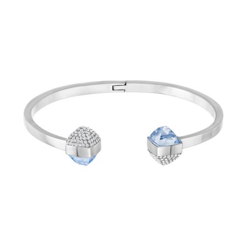 Bracciale - Swarovski Glance 5272073 placcatura rodio cristallo celeste e clear crystal