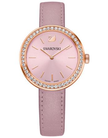 orologio swarovski 5213667 day time cassa PVD gold quadrante e cinturino in pelle rosa