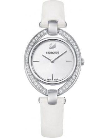 orologio swarovski 5376812 stella cinturino bianco