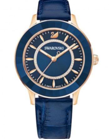 orologio swarovski 5414413 octea lux quadrante blu cinturino blu cassa PVD gold