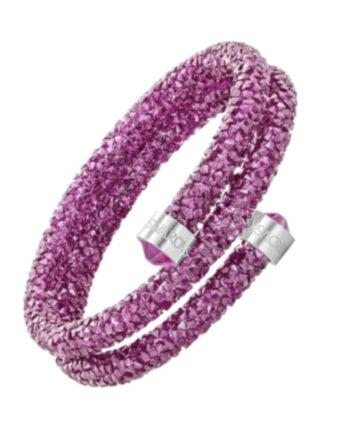 swarovski crystaldust double fucsia doppio giro 5273643 a