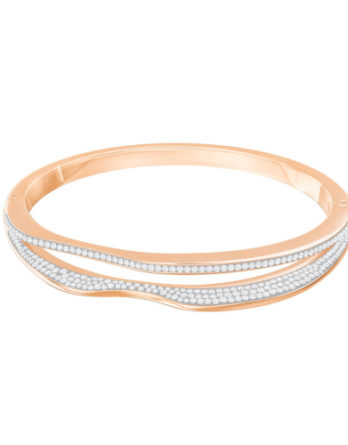 swarrovski bracciale hilly narrow bianco rigido rodiato rose gold 5366595