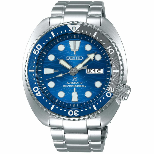 SEIKO SRPD21K1 turtle save the ocean white shark