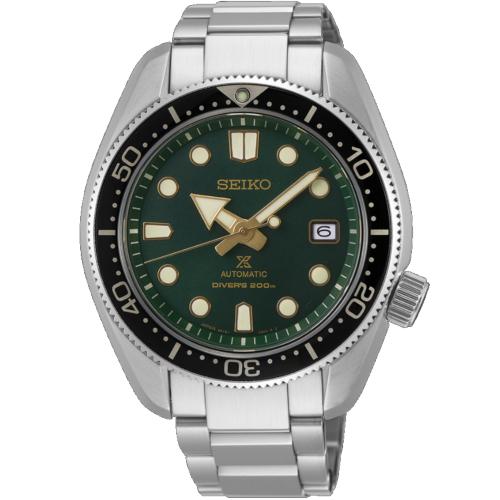 a Seiko SPB105J1 1968 special quadrante verde bracciale acciaio