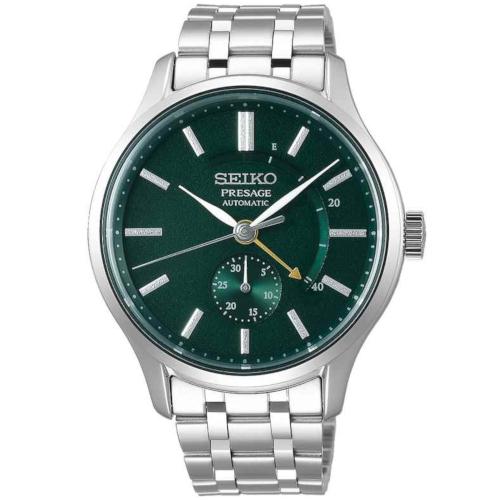 a Seiko SSA397J1 Presage quadrante verde cassa acciaio bracciale acciaio