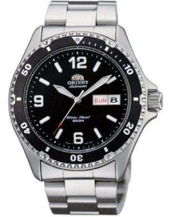 Orient FAA02001B3 Mako 1 quadrante nero indici arabi e a bacchetta ghiera nera bracciale acciaio