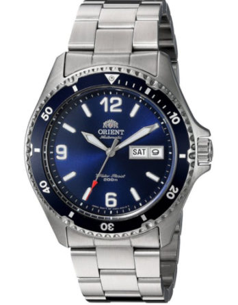 Orient FAA02002D9 Mako 1 quadrante blu indici arabi e a bacchetta ghiera blu bracciale acciaio
