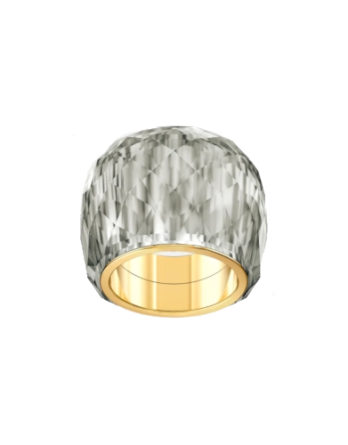 anello-swarovski-nirvana--grigio--pvd-tonalità-oro-swarovski-5470027_png