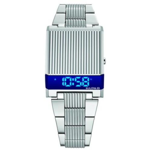 bulova computron 96C139 bracciale acciaio led blu