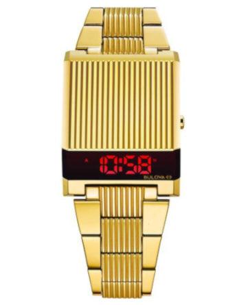 bulova computron 97C110 dorato con led rosso
