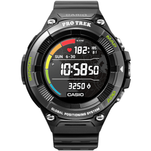 casio WSD-F21HR-BKAGE smart watch ghiera nera