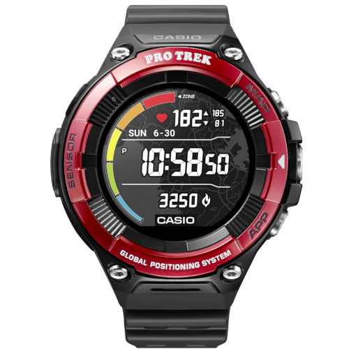 casio WSD-F21HR-RDBGE smart watch ghiera rossa