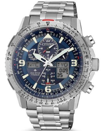 Citizen JY8100-80L nuovo Sky Hawk Pilot crono super titanio quadrante blu