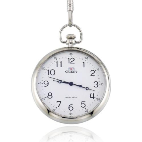 Orient CQC0C001W0 orologio da tasca quadrante bianco numeri arabi